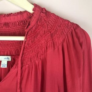 88c01b916490 Anthropologie Tops - Anthropologie Odille Baroque Smocked Peasant Top